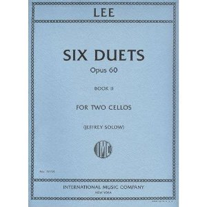 Lee Sebastian Six Duets, Op. 60, Book 2 Two Cellos edited by Walter Schulz - International Music
